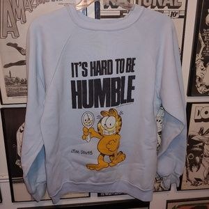 Vintage 80s Funny Garfield Cartoon Shirt